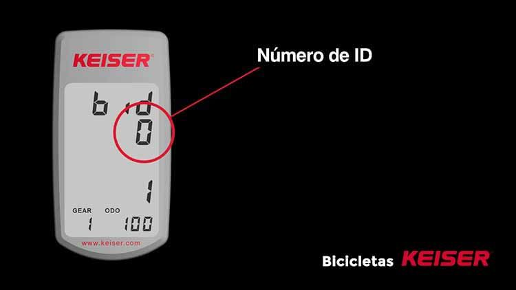 configurar display Keiser localizar numero ID