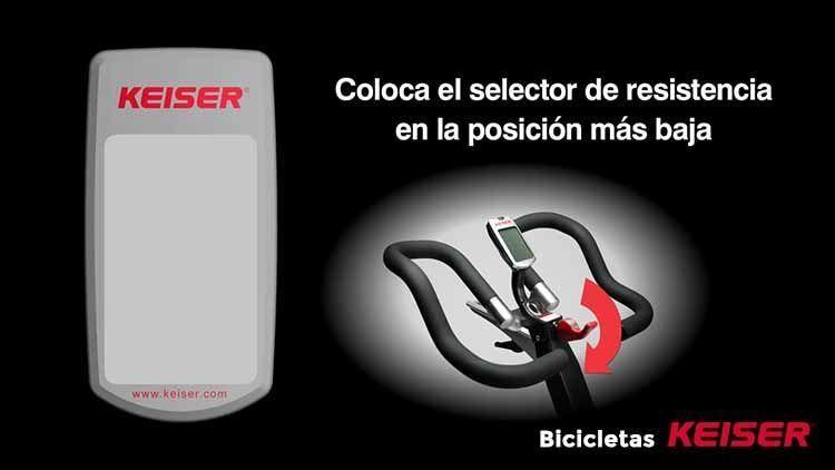 display Bicicletas Keiser posicion abajo