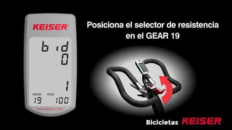 configurar display Keiser resistencia GEAR 19