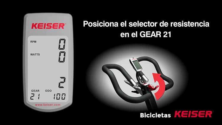 configurar display Keiser resistencia GEAR 21