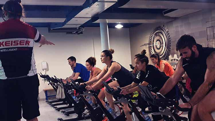 sesion spinning gym